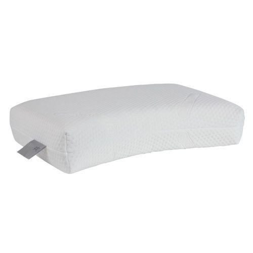 OS 520 Gevuld met 50% natuurlatex en 50% synthetische latex.  dit hoofdkussen heeft een extra voorgevormde neksteun voor nog meer ondersteuning aan hoofd en nek.www.slaapkennertheobot.nl