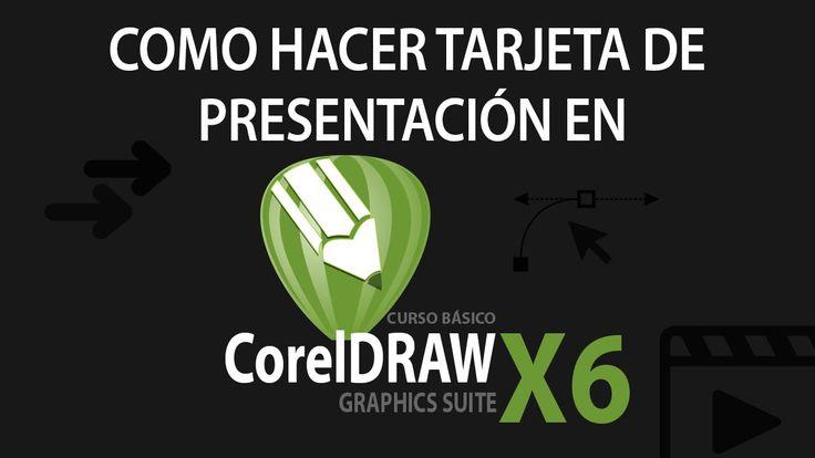 Como diseñar una tarjeta de presentación en COREL X6 - ejercicio básico