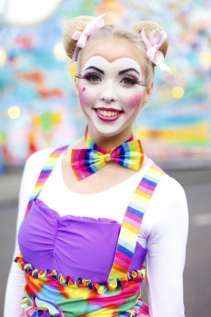 Schönes Clowns-Makeup #Clowndame #Karneval #Fasching
