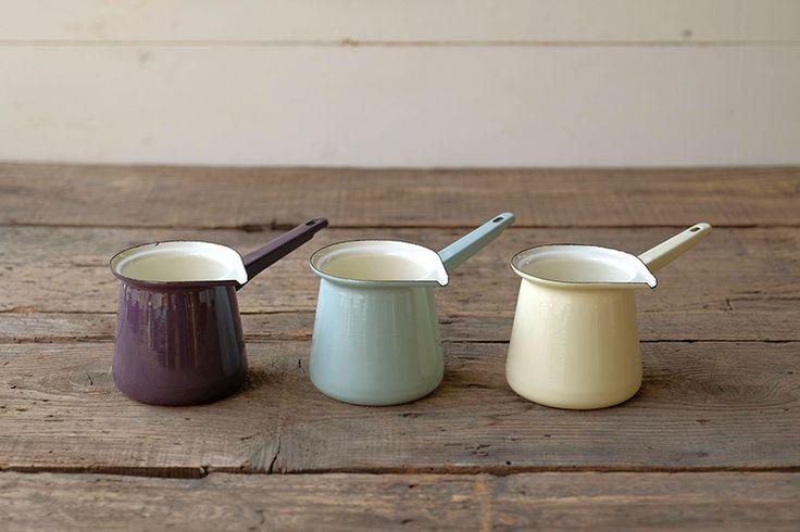 Dexam 琺瑯トルココーヒーポット/セージグリーン | キッチン,キッチンツール | Orne de Feuilles