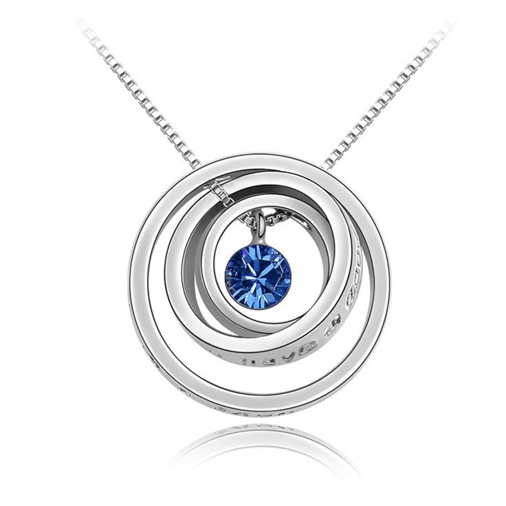 """Austrian Crystal Necklaces """"I wish you'll have a good luck """" Romantic Gifts For Boyfriend & Girlfriend Bijoux Wholesale NXL0108"""