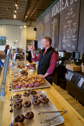 Vortex Donuts ... another delicious don't miss taste in the Asheville, NC South Slope Brewery District.   from the RomanticAsheville website.