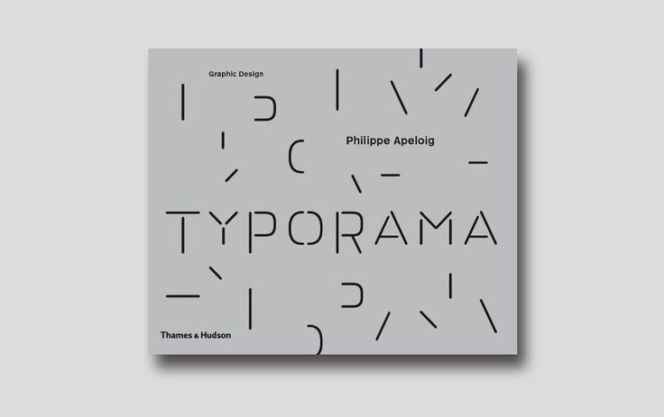 Typorama: The Graphic Work of Philippe Apeloig  Philippe Apeloig's design career began in 1985 at the Musée dOrsay where he designed the poster for the museum's first exhibition, Chicago, Birth of a Metropolis. He is noted for his posters, many of which are in the collection of MoMA, and his typography, including the typefaces Octobre and Drop.  #typorama #philippeapeloig #graphicdesignbooks #typography