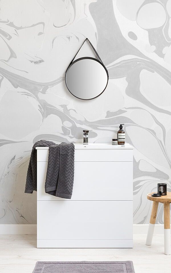Create A Simple Yet Scandi Styled Space And Bring The Beauty Of Nordic Inspired Design To Your Home With Bathroom Wallpaper Modern Bathroom New Bathroom Ideas
