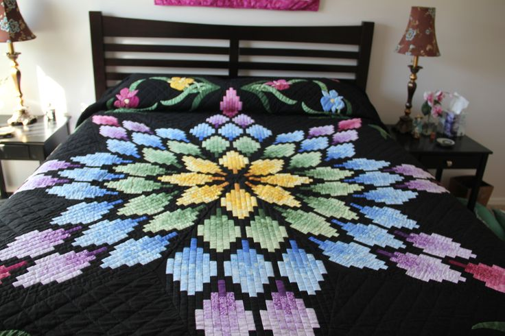 Unique California Lights quilt pattern.