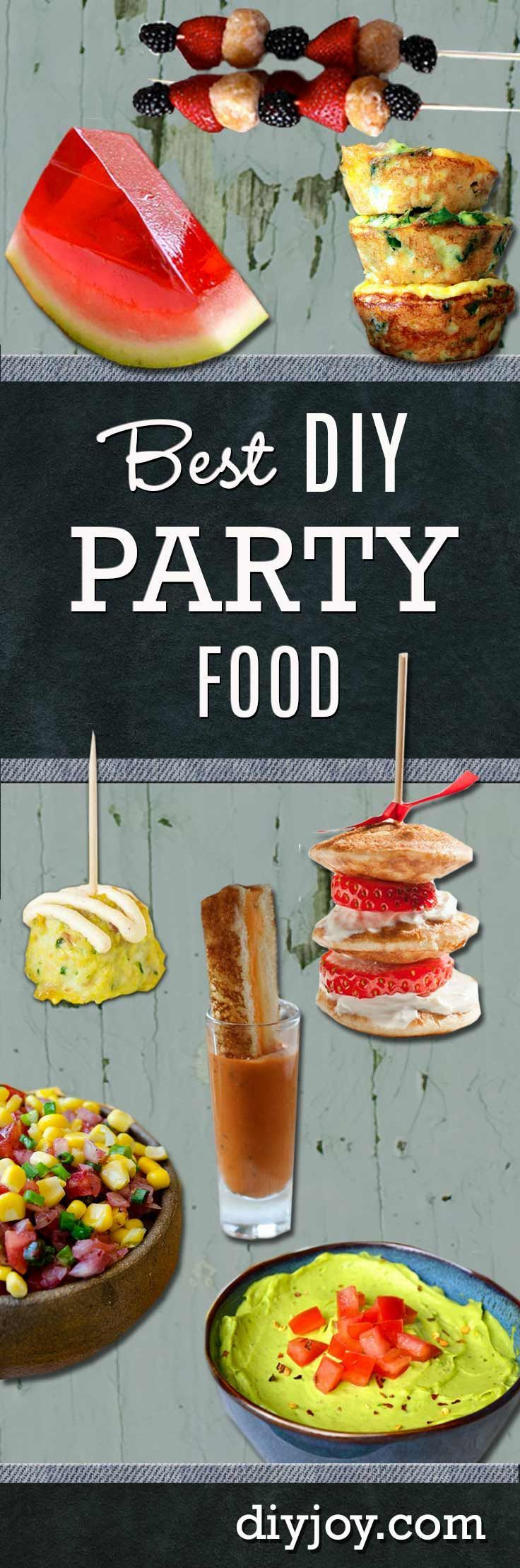 Best DIY party food ideas and recipes http://diyjoy.com/best-diy-party-food-ideas