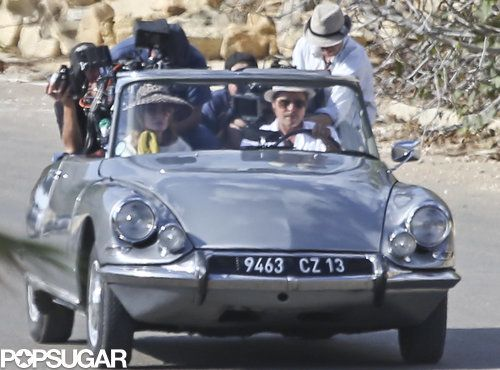 Angelina Jolie and Brad Pitt filmed a car scene for their upcoming movie By the Sea in Malta on Monday.