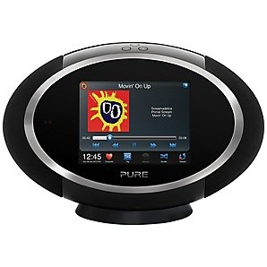 Pure Sensia 200D Connect DAB Internet Radio Audio System, Black
