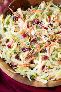 Apple Cranberry Almond Coleslaw - fresh, flavorful and crunchy :-)