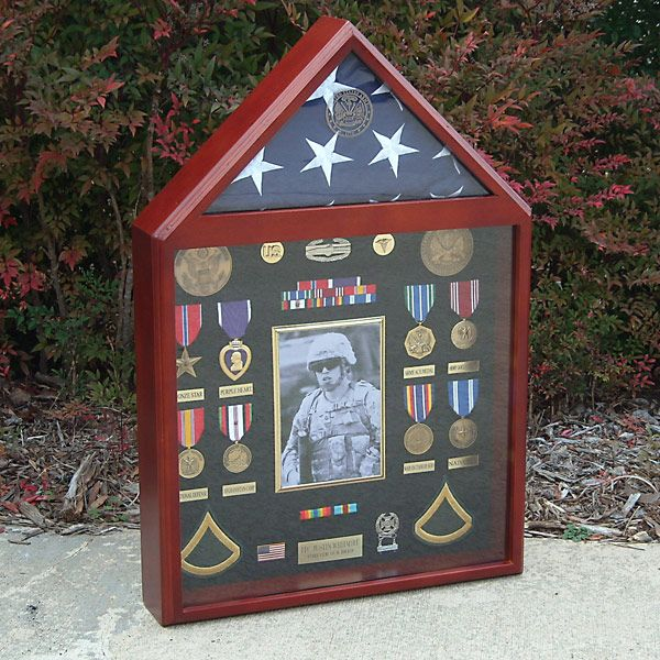 MILITARY MEDALS IN DISPLAY CASES