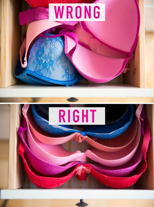 You carelessly stuff your bras in a drawer.  #organizationhelp #clothinghacks