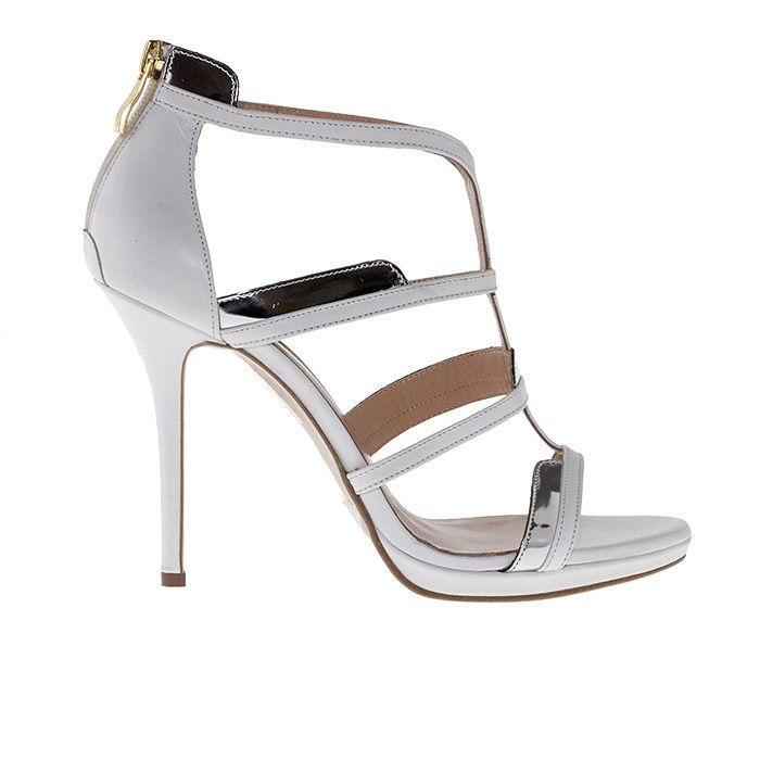 1008B10_WHITE LEATHER www.mourtzi.com #white #mourtzi #weddingshoes #sandals #wow #shoeporn