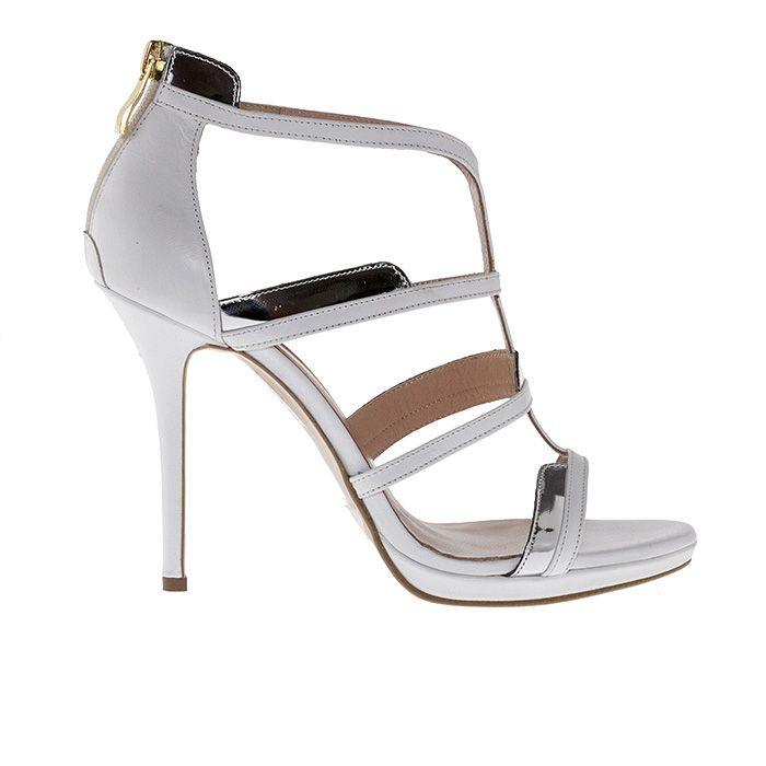 1008B10_WHITE LEATHER www.mourtzi.com #white #mourtzi #weddingshoes #sandals #wow #shoeporn