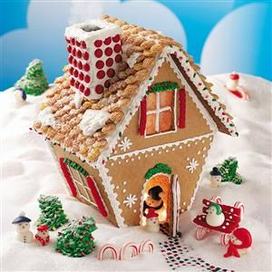 15 Gingerbread House Ideas - Bring some Christmas magic to your home with a classic holiday tradition—homemade gingerbread houses! The edible establishments made out of graham crackers or gingerbread are fun to decorate with an assortment of colorful candies and make a fun presentation on your holiday table.