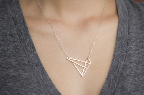 geometry + jewelry #geometric #necklace