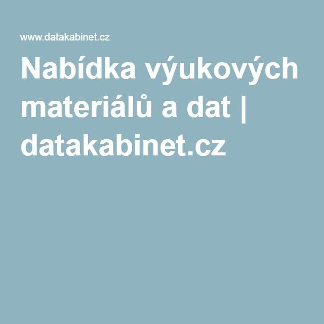 Nabídka výukových materiálů a dat | datakabinet.cz