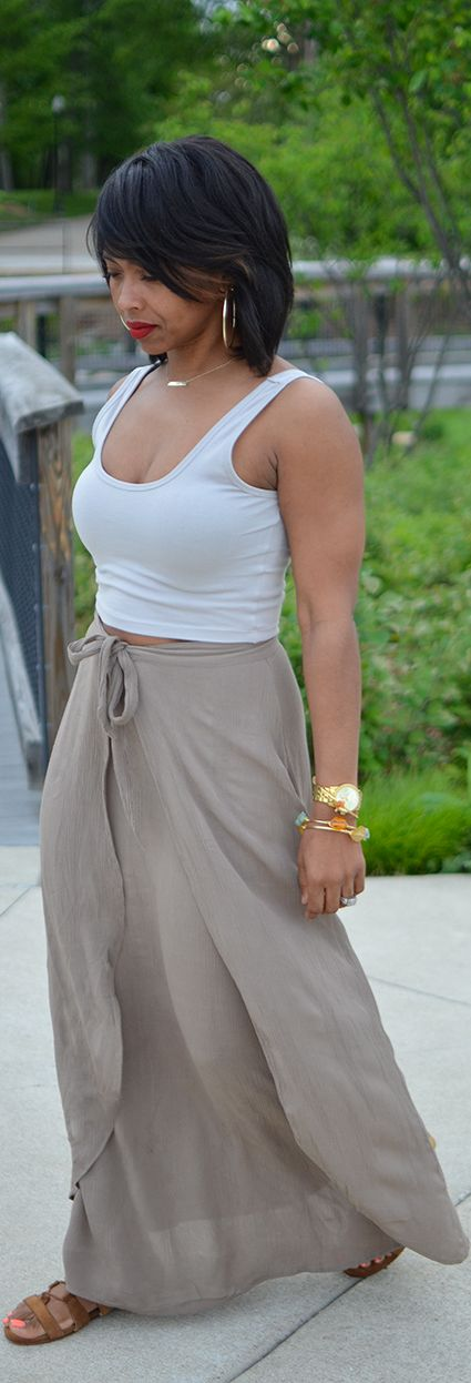 Spring Outfit Idea/ Maxi Skirt, Indianapolis Style Blogger
