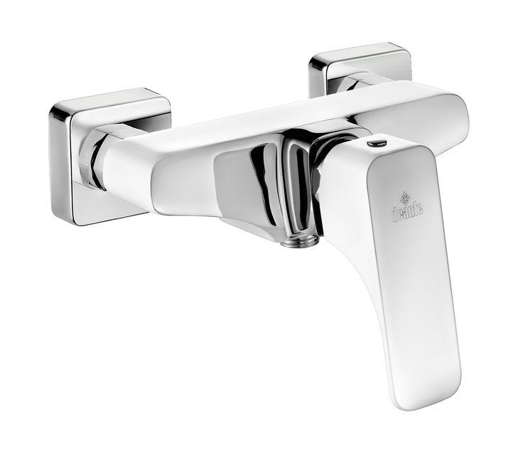 Hiacynt shower mixer, chrome/white, Deante