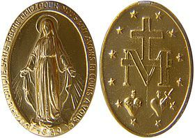 From the Miraculous Medal....just the Marian Cross