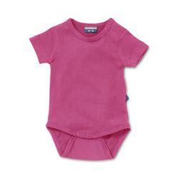 Infant bodysuit in Supreme pink. Natural basic for baby & toddler.  http://silkylabel.nl/romper-korte-mouw.html