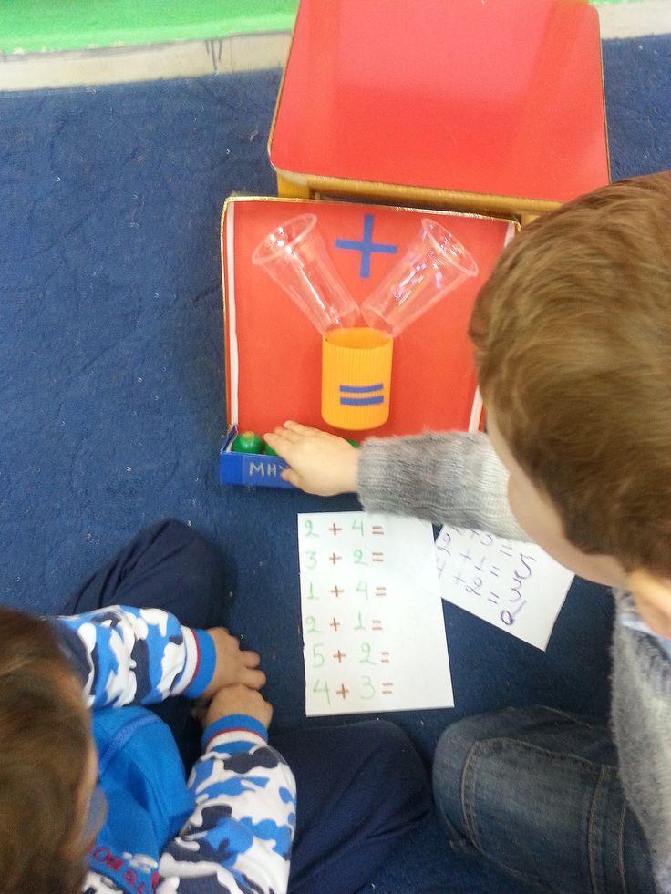 Μηχανή πρόσθεσης για τη γωνιά των μαθηματικών the adding machine, kindergarten, math's corner Νηπιαγωγείο Γέργερης, Ηράκλειο, Κρήτη
