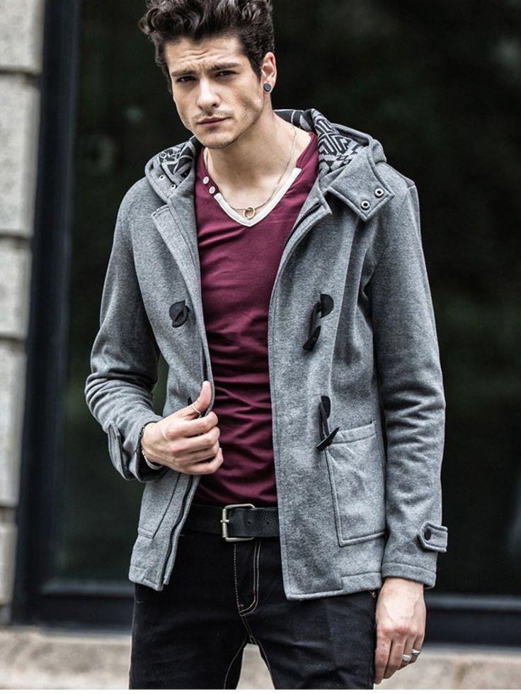Amazon.co.jp: (オルリク)OLRIK ダッフルコート メンズ ダッフル パーカー ジャケット ブルゾン アウター OL-82006 (M, ブラック): 服&ファッション小物通販