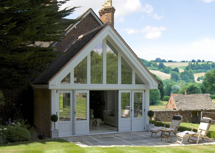One of our stunning Garden Room extensions with Bi-Folding doors that can be used as French doors too!