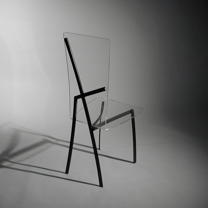 Charming Work And Design Plexiglass And Blackened Steel Harmonious Existence Chair