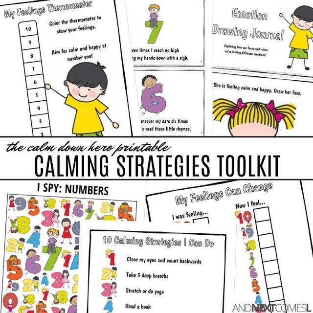 Calm Down Hero Toolkit | Calming Strategies | Self