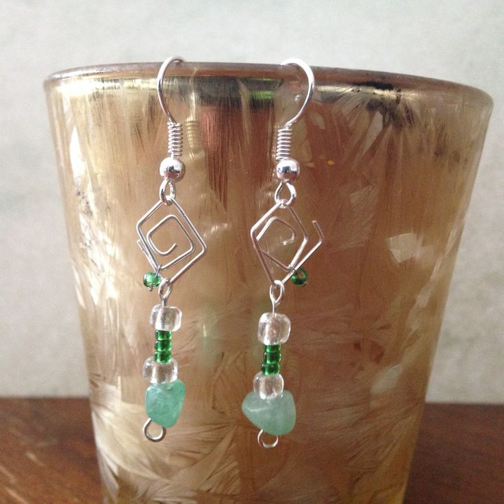 These are my favorite pair of bent wired earrings! Check them out and enjoy!