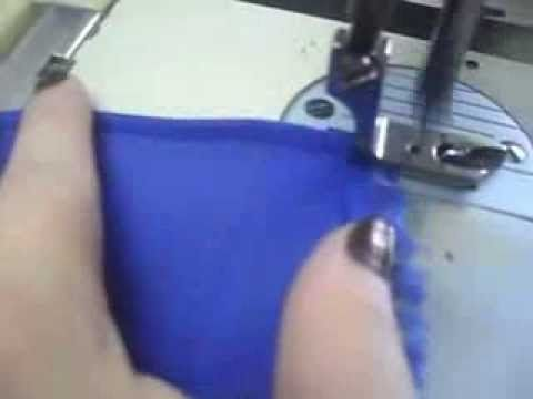 maquina reta calcador para bainhas em tecidos finos  Voil - YouTube