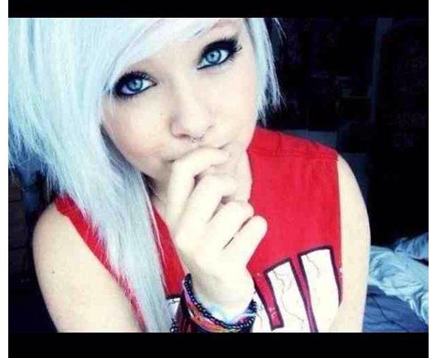 cute white hair scene kinda