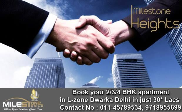 Book your 2/3/4 BHK apartment in L-zone Dwarka Delhi in just 30* Lacs