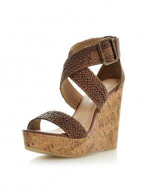 Sandale maro cu platforma