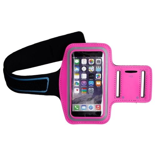 "Apple iPhone 6 Plus (5.5"") - Athletic Runner Armband Hot Pink"