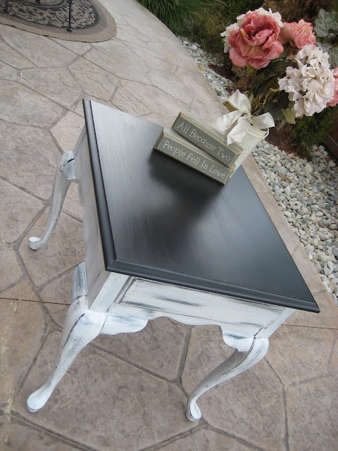 """Relove: """"Tuxedo"""" Queen Anne Side Table {for sale}"""