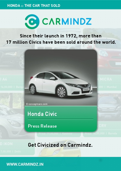 Since the launch in 1972, Honda Civic has grown into one of the most widespread cars in the world. As of 2006, over 17 million Civics have been sold around the globe. A top-seller in Canada for 14 consecutive years, the series has seen a total of nine generations so far.  Source: biggeststuff.com