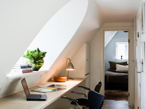 31 besten Home Office Bilder auf Pinterest Büro-Design, Eisenmöbel - schlafzimmer mit schrge einrichten