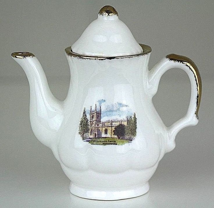 St. Lawrence Church Hungerford Mini Teapot J & S Chown Hayle Cornwall England UK