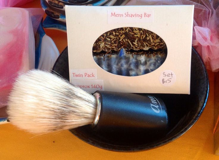 Shaving Bar Goats Milk Soaps with Peppermint and Spearmint Essential Oils. + Shaving Brush and Bowl. $15 facebook.com/EllyBabasTreasures