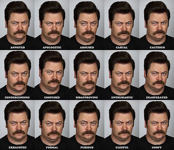 Because he isn't afraid to show emotion: | 28 Reasons Why Nick Offerman Is The Greatest Man Who Has Ever Lived