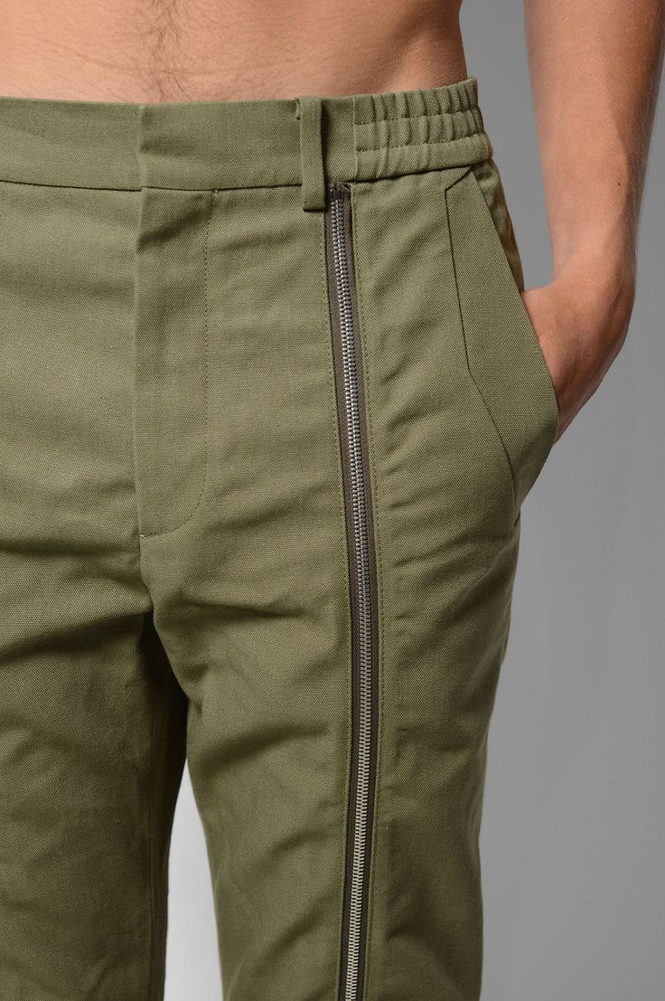 JUUN.J Khaki Zip Trousers