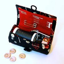 Travel Sewing Case Tutorial - I've an empty spool and could wind a length of some different coloured threads on it so I'd have enough colours to match what might need emergency sewing.