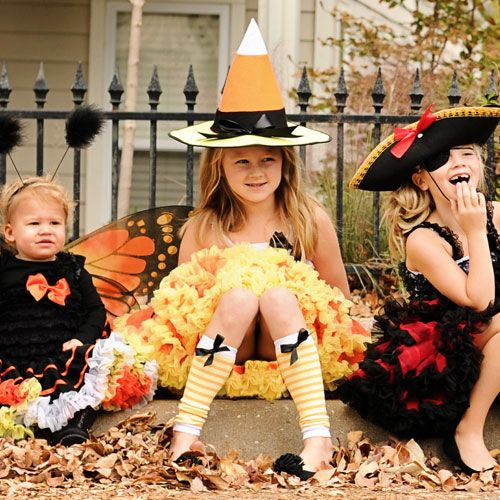 Candy Corn Witch Tutu Costume from PoshTots