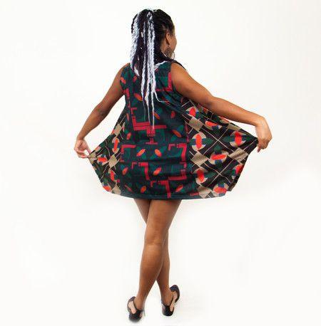 Vestido Azulejos- Curupira