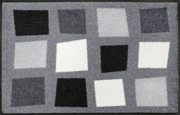 wash+dry Schmutzmatte Boxpark grey 50 x 75 cm waschbare Fußmatte