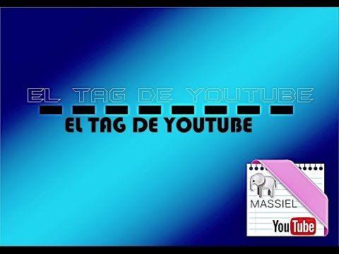 TAG DE YOUTUBE | MANUALIDADES | MR