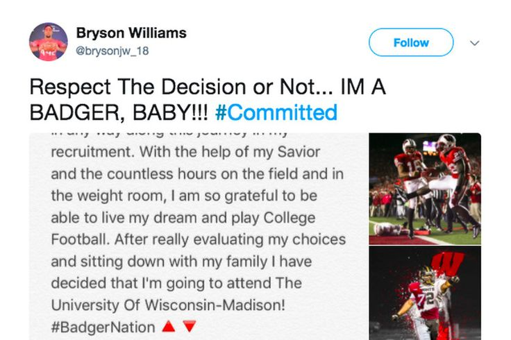 Wisconsin football recruiting: DT Bryson Williams commits to Badgers