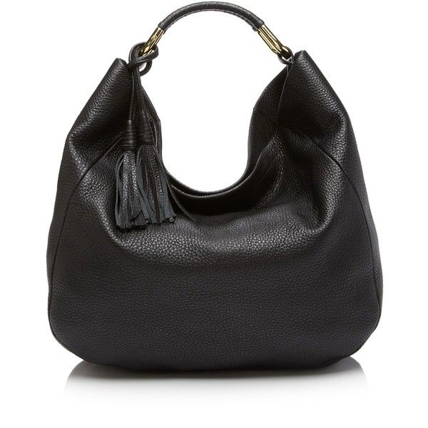 Etienne Aigner Hobo ($425) ❤ liked on Polyvore featuring bags, handbags, shoulder bags, slouch handbags, pebbled leather handbag, hobo shoulder handbags, hobo shoulder bag and slouchy handbags