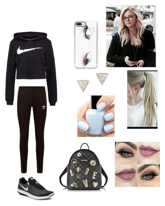 """""""Ariana moving into her dorm"""" by biermann ❤ liked on Polyvore featuring adidas Originals, NIKE, Casetify, Love Moschino and Adina Reyter"""